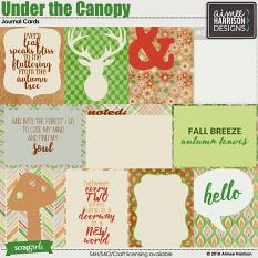 Under the Canopy Journal Cards