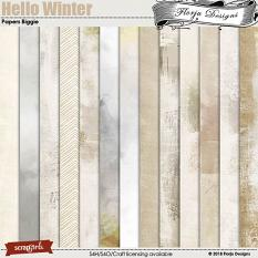 Hello Winter Papers Biggie by Florju Designs