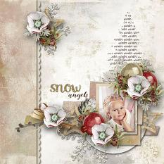 layout using Hello Winter Papers Biggie by Florju Designs