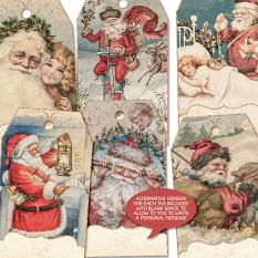Gift Tags Vol9 From Santa With Love by On A Whimsical Adventure