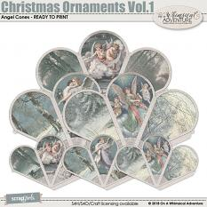 Christmas Ornaments Vol1 Angel Cones by On A Whimsical Adventure