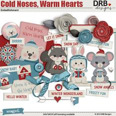 Cold Noses, Warm Hearts Embellishment by DRB Designs | ScrapGirls.com