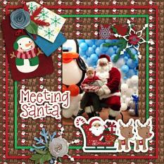 Layout Made with Santa's Helpers Collection By Charly Renay