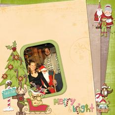 Layout made with frosty And Friends Collection By Charly Renay