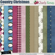 Country Christmas Papers By Charly Renay
