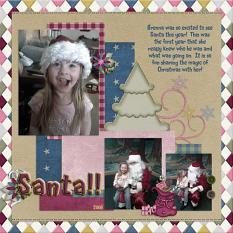 Layout made with Country Christmas Collection By Charly Renay