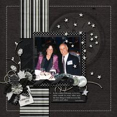Layout by Kathyrn using Wintery Moments: New Years Eve