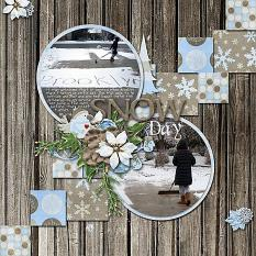 Layout by Bekki using Wintery Moments: Snow