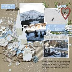 Layout using Wintery Moments: Snow