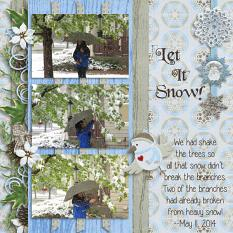 Layout by Penny using Wintery Moments: Snow