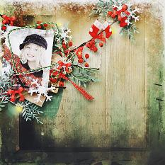 layout using Value pack : Xmas  by Florju designs