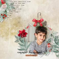 layout using Xmas Collection Biggie by Florju Designs
