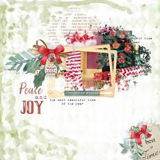 layout using Xmas Word art and word tag by Florju Designs