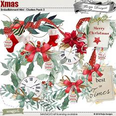 Xmas Embellishment Mini : Clusters Pack 2 by Florju Designs