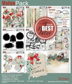 layout using Xmas Embellishment Mini : Clusters Pack 2 by Florju Designs