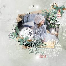 layout using ScrapSimple Embellishment template: Xmas Clipping Mask by Florju Designs