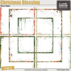 Christmas Blessing Messy Edges