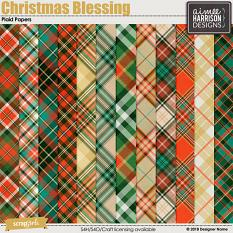 Christmas Blessing Plaid Papers