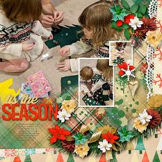 Christmas Blessing Layout