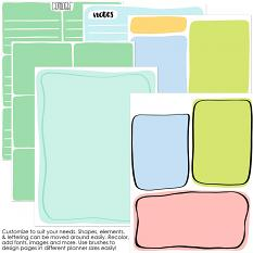 Planner Happy templates and brushes