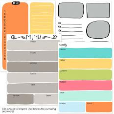 Planner Happy templates and brushes samples