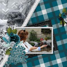 """Enjoy Every Moment"" digital scrapbook layout by Debby Leonard"