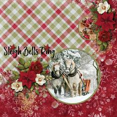 """Sleigh Bells Ring"" digital scrapbook layout by Sondra Cook"