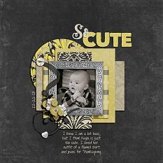 """So Cute"" digital scrapbook layout by Shauna Trueblood"