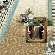"""Great Friend"" digital scrapbook layout by Debby Leonard"