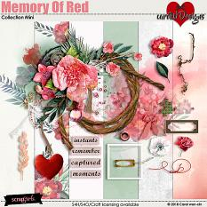 ScrapSimple Digital Layout Collection:Memory Of Red