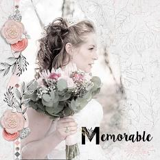 """Memorable"" digital scrapbook layout by Andrea Hutton"