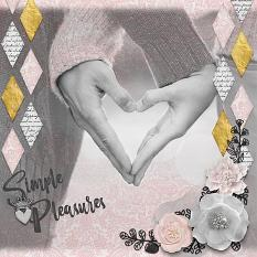 """Simple Pleasures"" digital scrapbook layout by Vikki Lamar"