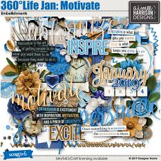 360Life Jan Motivate Embellishments