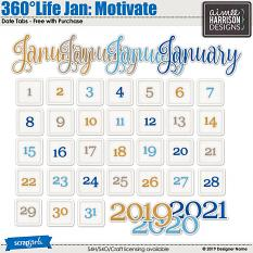 360Life Jan Motivate Date Pack