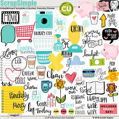 Everyday Planner Embellishment Templates & Brushes
