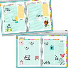 Planner pages using Everyday Planner Embellishment Templates & Brushes