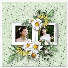 Layout using ScrapSimple Digital Layout Collection:Little Daisy