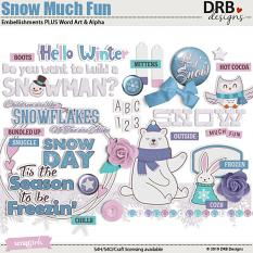 Snow Much Fun Embellishments and Word Art by DRB Designs | ScrapGirls.com