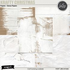 Krafty Christmas - Gesso Papers