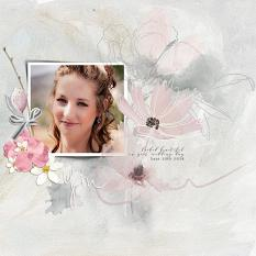 Layout using ScrapSimple Digital Layout Collection:The Past Tense