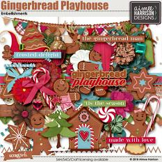 Gingerbread Playhouse Embellishments