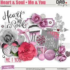 Heart & Soul • Me & You Embellishment by DRB Designs | Scrapgirls.com
