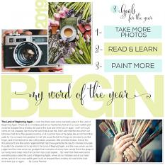 Scrapbook page using What's Your Word layout templates