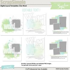One Word digital layout templates