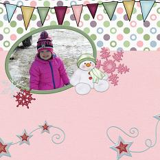 Layout By Charly Renay using Snow Day Mini By Charly Renay