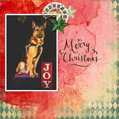 Layout by Shannon using Scrapping your Xmas Collection Mini by Aftermidnight Design