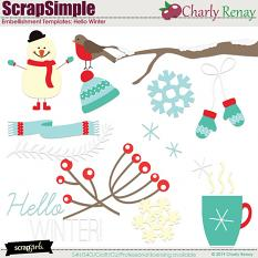 Scrapsimple Embellishment Templates:Hello Winter By Charly Renay