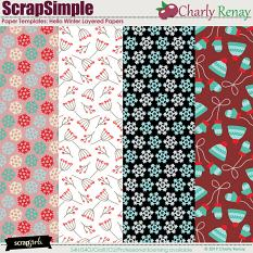 Scrapsimple Paper Templates:Hello Winter By Charly Renay