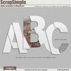 ScrapSimple Alpha Templates: Cutting Room by Brandy Murry