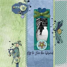 Layout using ScrapSimple Digital Layout Templates:Best Wishes